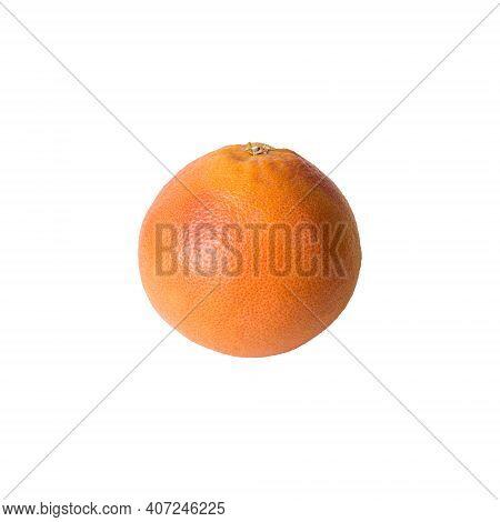 Grapefruit Isolated On White Background. Ripe Grapefruit