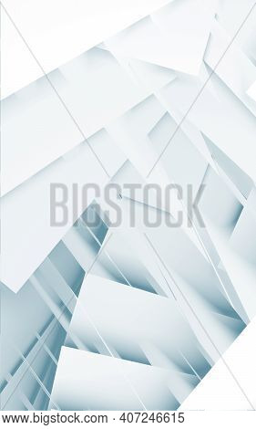 Chaotic Geometric Pattern. Digital Background With Double Exposure Effect. 3d Rendering Illustration