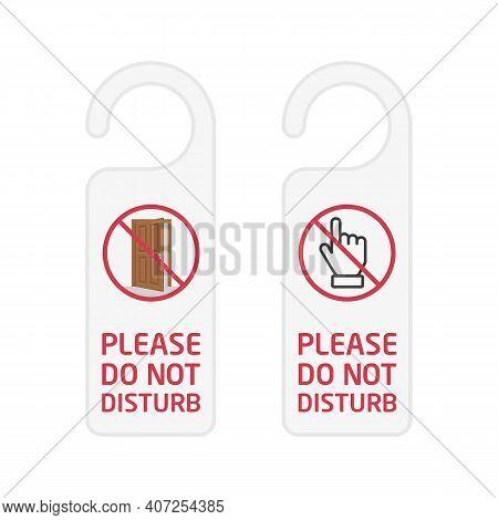 Do Not Disturb Sign. Hotel Door Hanger Tags, Messages Please Do Not Disturb.