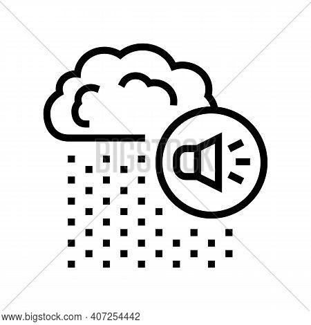 Rain Noise Line Icon Vector. Rain Noise Sign. Isolated Contour Symbol Black Illustration