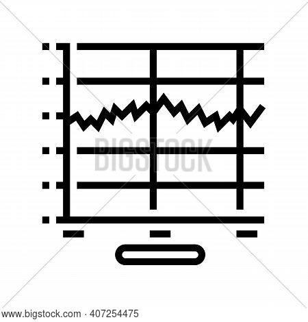 Graphic Sound Vibration Line Icon Vector. Graphic Sound Vibration Sign. Isolated Contour Symbol Blac