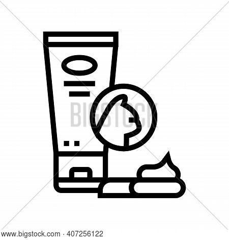 Cream For Wool Line Icon Vector. Cream For Wool Sign. Isolated Contour Symbol Black Illustration