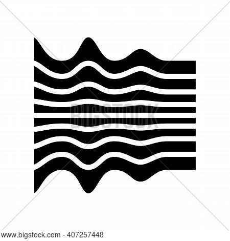 Noise Waves Glyph Icon Vector. Noise Waves Sign. Isolated Contour Symbol Black Illustration