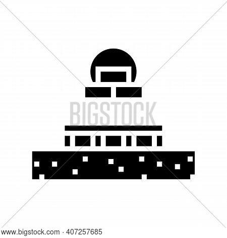 Columnar Foundation Glyph Icon Vector. Columnar Foundation Sign. Isolated Contour Symbol Black Illus