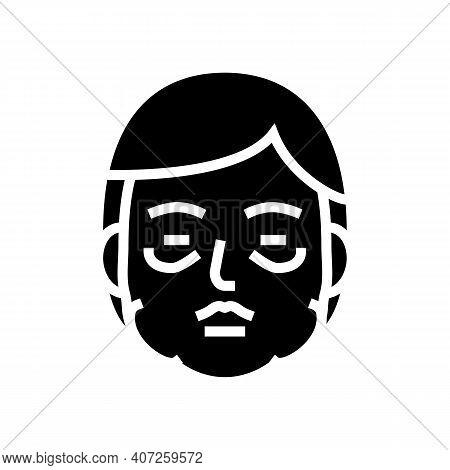 Allergic Edema Glyph Icon Vector. Allergic Edema Sign. Isolated Contour Symbol Black Illustration
