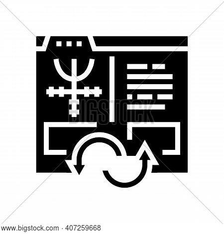 Index To Information Converter Glyph Icon Vector. Index To Information Converter Sign. Isolated Cont