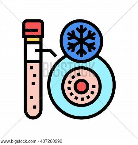 Freezing Embryo Color Icon Vector. Freezing Embryo Sign. Isolated Symbol Illustration