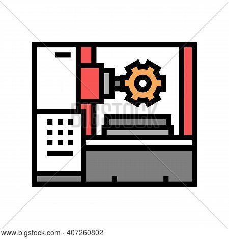 Gear-machined Apparatus Color Icon Vector. Gear-machined Apparatus Sign. Isolated Symbol Illustratio
