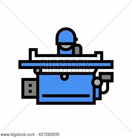 Grinding Machine Color Icon Vector. Grinding Machine Sign. Isolated Symbol Illustration