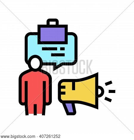 Professionalism Soft Skill Color Icon Vector. Professionalism Soft Skill Sign. Isolated Symbol Illus
