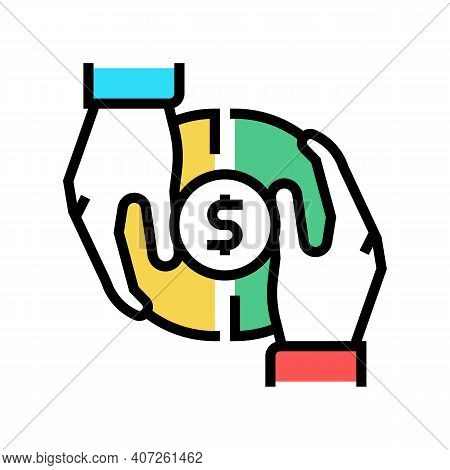 Investor Money Color Icon Vector. Investor Money Sign. Isolated Symbol Illustration