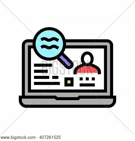 Checking Status Allowance Color Icon Vector. Checking Status Allowance Sign. Isolated Symbol Illustr