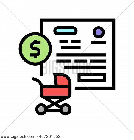Pregnancy Allowance Color Icon Vector. Pregnancy Allowance Sign. Isolated Symbol Illustration