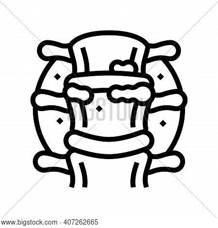 Ridge Gout Line Icon Vector. Ridge Gout Sign. Isolated Contour Symbol Black Illustration