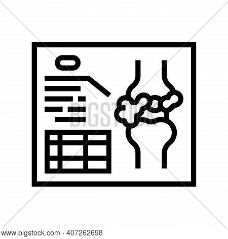 Lumps Analysis And Researching Line Icon Vector. Lumps Analysis And Researching Sign. Isolated Conto