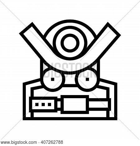 Bending Machine Line Icon Vector. Bending Machine Sign. Isolated Contour Symbol Black Illustration