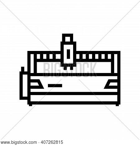 Water Apparatus Line Icon Vector. Water Apparatus Sign. Isolated Contour Symbol Black Illustration