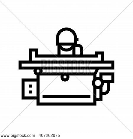 Grinding Machine Line Icon Vector. Grinding Machine Sign. Isolated Contour Symbol Black Illustration