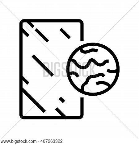 Bronze Mirror Line Icon Vector. Bronze Mirror Sign. Isolated Contour Symbol Black Illustration