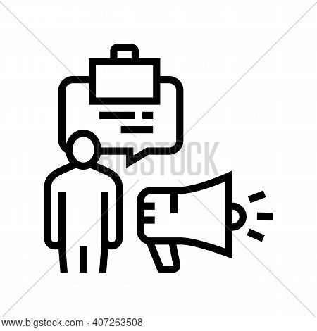 Professionalism Soft Skill Line Icon Vector. Professionalism Soft Skill Sign. Isolated Contour Symbo