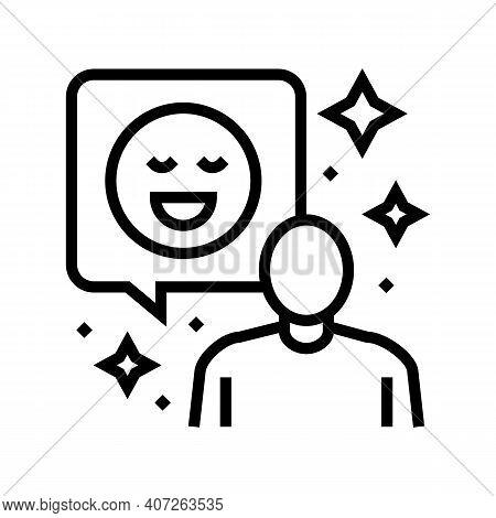 Positive Attitude Soft Skill Line Icon Vector. Positive Attitude Soft Skill Sign. Isolated Contour S