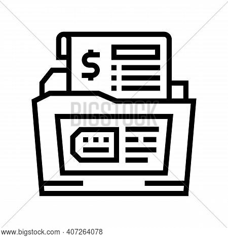 Dossier Allowance Line Icon Vector. Dossier Allowance Sign. Isolated Contour Symbol Black Illustrati