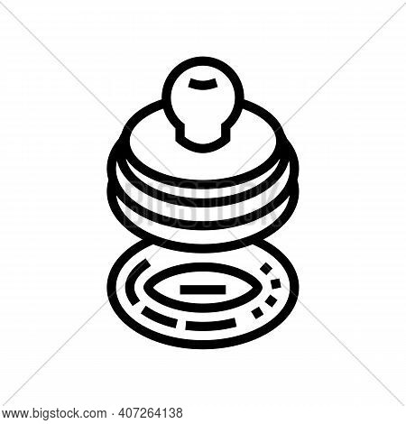 Stamp For Accept Allowance Line Icon Vector. Stamp For Accept Allowance Sign. Isolated Contour Symbo