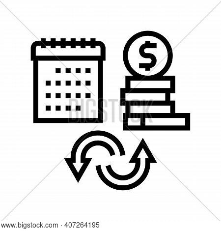 Social Security Benefit Allowance Line Icon Vector. Social Security Benefit Allowance Sign. Isolated