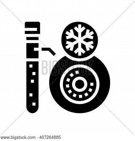 Freezing Embryo Glyph Icon Vector. Freezing Embryo Sign. Isolated Contour Symbol Black Illustration