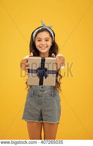 Happiness Of Giving. Celebrate Birthday. Kid Birthday Gift. Extra Bonus. Grateful For Good Gift. Sur