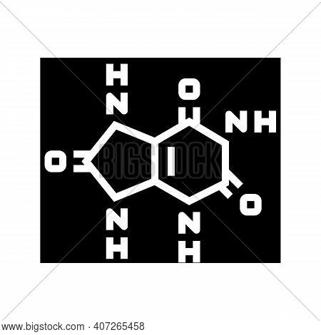 Uric Acid Cause Of Gout Glyph Icon Vector. Uric Acid Cause Of Gout Sign. Isolated Contour Symbol Bla