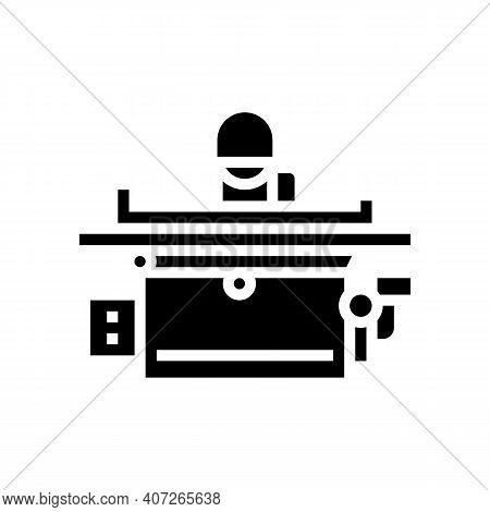 Grinding Machine Glyph Icon Vector. Grinding Machine Sign. Isolated Contour Symbol Black Illustratio
