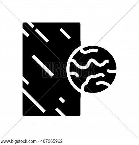 Bronze Mirror Glyph Icon Vector. Bronze Mirror Sign. Isolated Contour Symbol Black Illustration