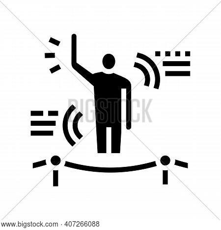 Understanding Body Language Soft Skill Glyph Icon Vector. Understanding Body Language Soft Skill Sig