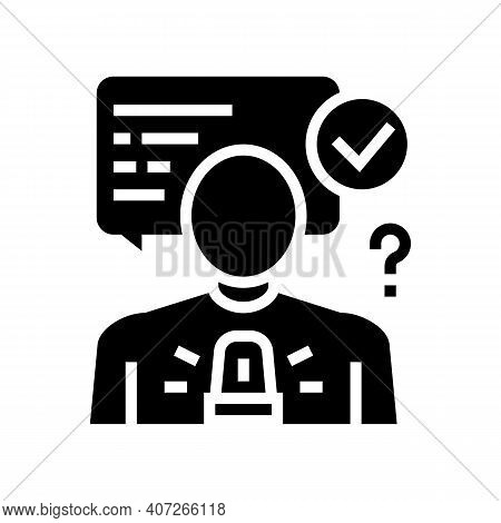 Decision Making Soft Skill Glyph Icon Vector. Decision Making Soft Skill Sign. Isolated Contour Symb