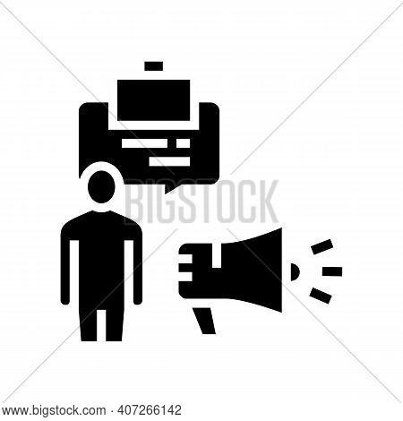 Professionalism Soft Skill Glyph Icon Vector. Professionalism Soft Skill Sign. Isolated Contour Symb