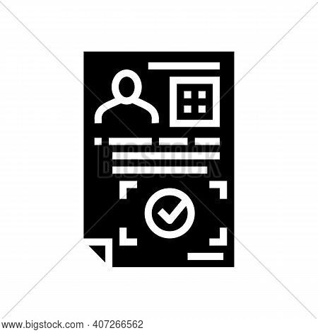 Approval Allowance Glyph Icon Vector. Approval Allowance Sign. Isolated Contour Symbol Black Illustr