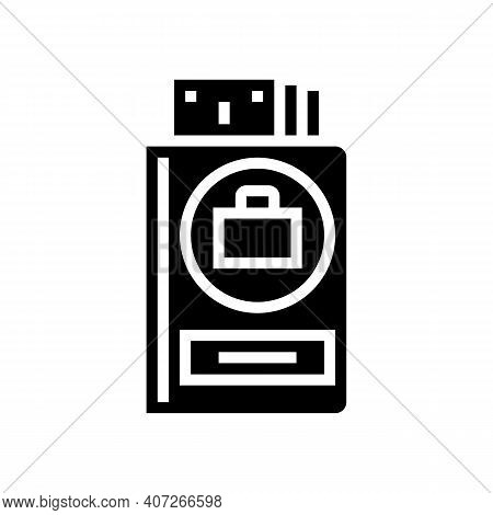 Work Pay Allowance Glyph Icon Vector. Work Pay Allowance Sign. Isolated Contour Symbol Black Illustr