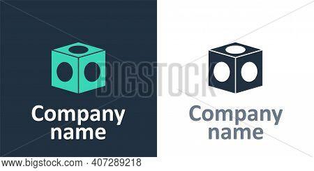 Logotype Billiard Chalk Icon Isolated On White Background. Chalk Block For Billiard Cue. Logo Design