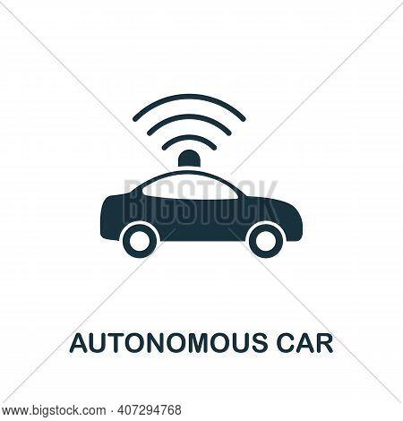 Autonomous Car Icon. Simple Element From Technology Collection. Filled Monochrome Autonomous Car Ico