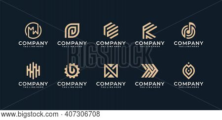 Abstract Logo Design Collection Illustration Vector Graphics