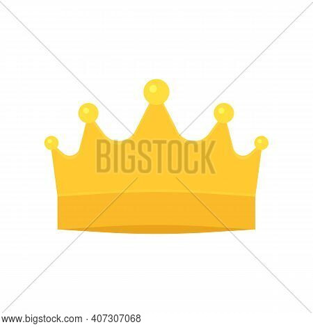 Crown Golden Royal Symbol. Crown For King, Queen, Prince Or Princess. Fairy Shine Corona. Vector Ill