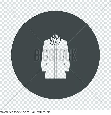 Blouse On Hanger With Sale Tag Icon. Subtract Stencil Design On Tranparency Grid. Vector Illustratio