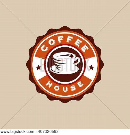 Vintage Coffee Logo Badge Designs Concept Vector, Coffee House, Coffee Aroma Brand Logo Symbol
