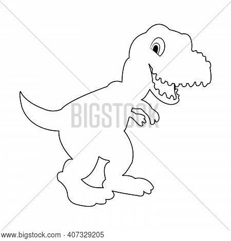 Silhouette Dinosaur. T Rex Dinosaur, Dangerous Extinct Predator Silhouette Illustration. Ancient Cre