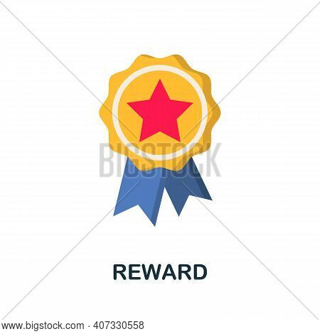 Reward Flat Icon. Color Simple Element From Customer Loyalty Collection. Creative Reward Icon For We