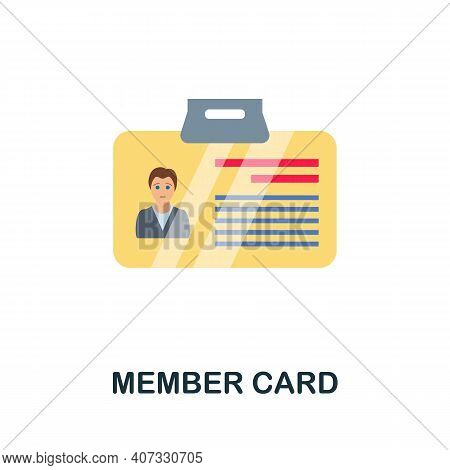 Member Card Flat Icon. Color Simple Element From Customer Loyalty Collection. Creative Member Card I