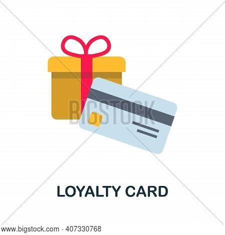 Loyalty Card Flat Icon. Color Simple Element From Customer Loyalty Collection. Creative Loyalty Card