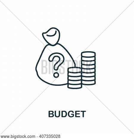 Budget Icon. Simple Element From Business Management Collection. Creative Budget Icon For Web Design