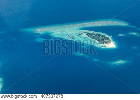 Aerial View Of Maldives Atolls Is The World Top Beauty. Maldives Tourism. Islands Aerial View, Amazi